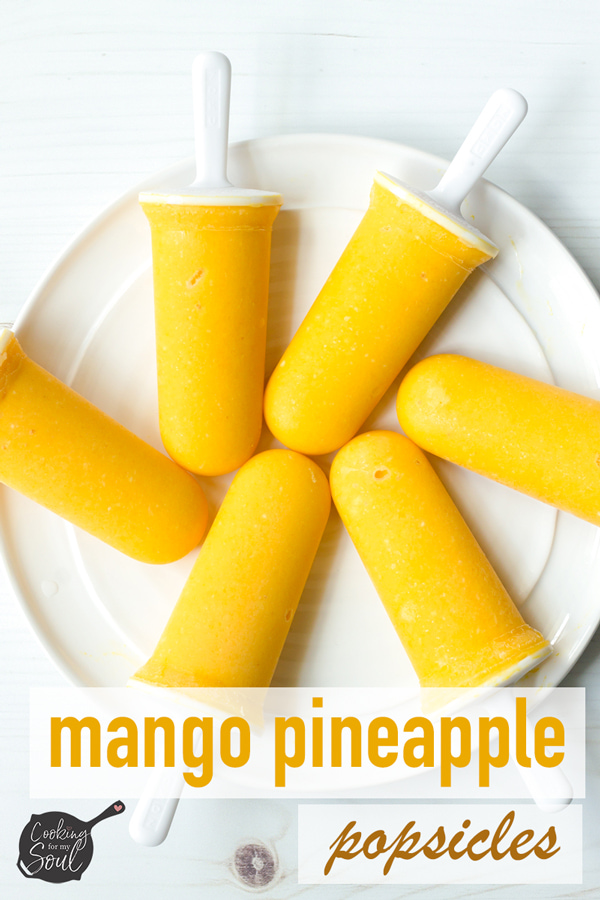 Mango Pineapple Popsicles with Coconut Milk