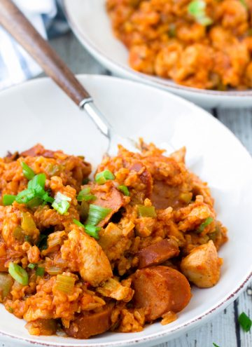 one pot chicken and sausage jambalaya