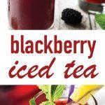 blackberry iced tea with lemon