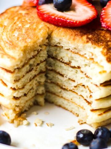 fluffy pancakes inside