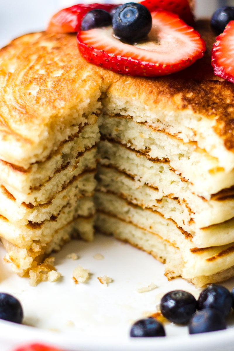 fluffy pancakes inside