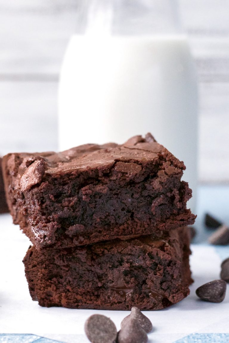 perfect brownies from scratch with milk and chocolate chips