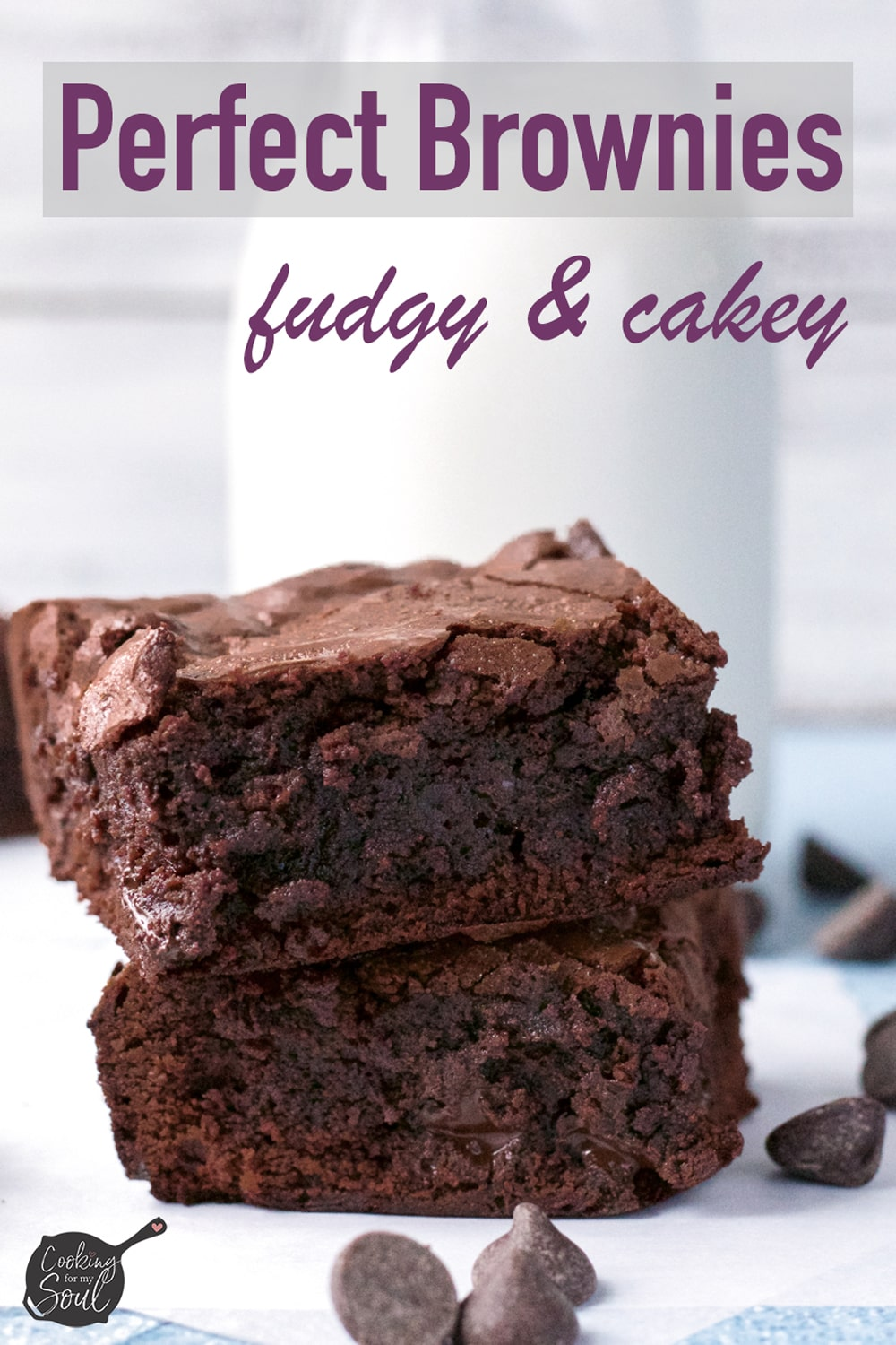 fudgy brownies with milk