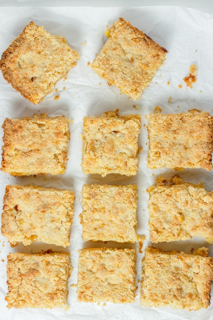 apple peach crumb bar squares