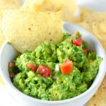 easy guacamole with tortilla chips