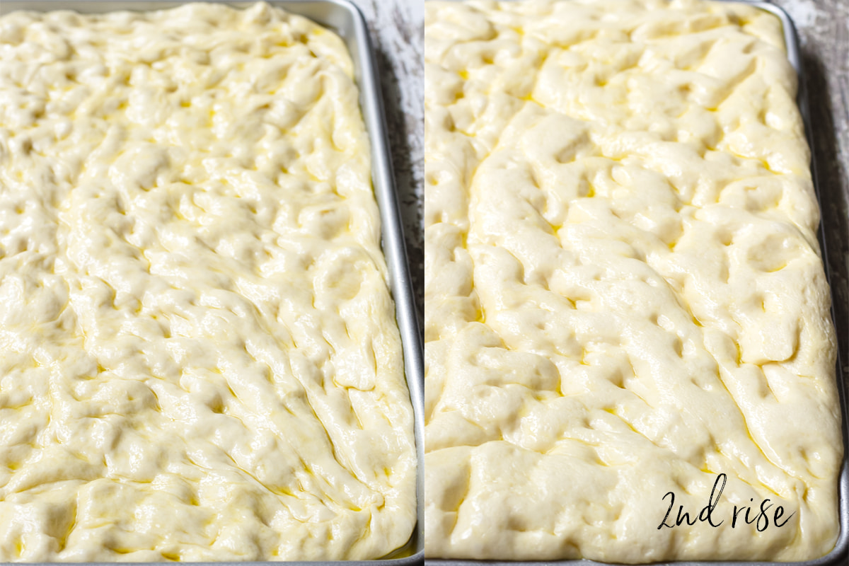 how to rise dough for focaccia