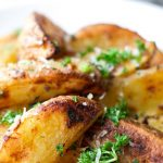 roasted garlic potato wedges with spices