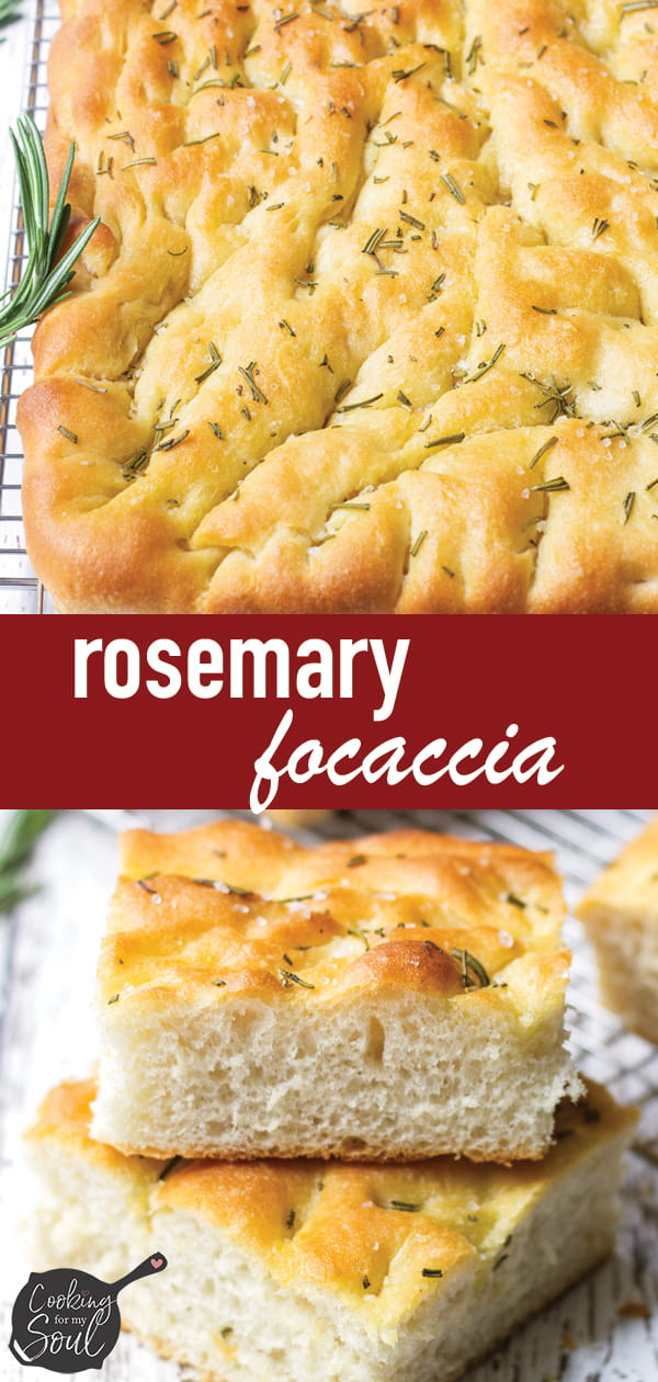 Rosemary Focaccia Bread with Olive Oil