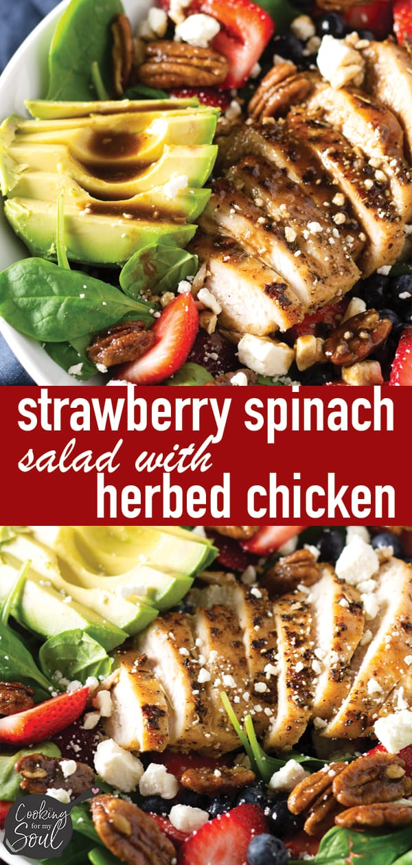Strawberry Spinach Salad with Grilled Chicken