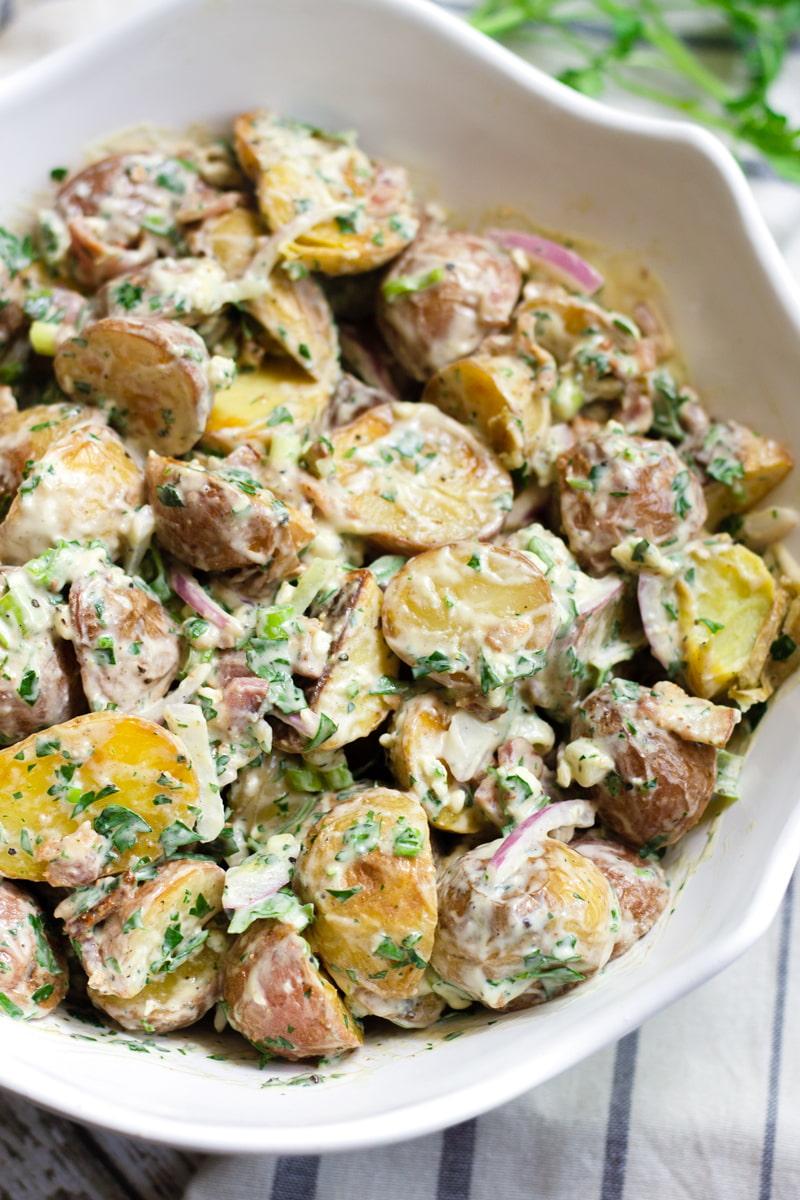 blue cheese bacon potato salad