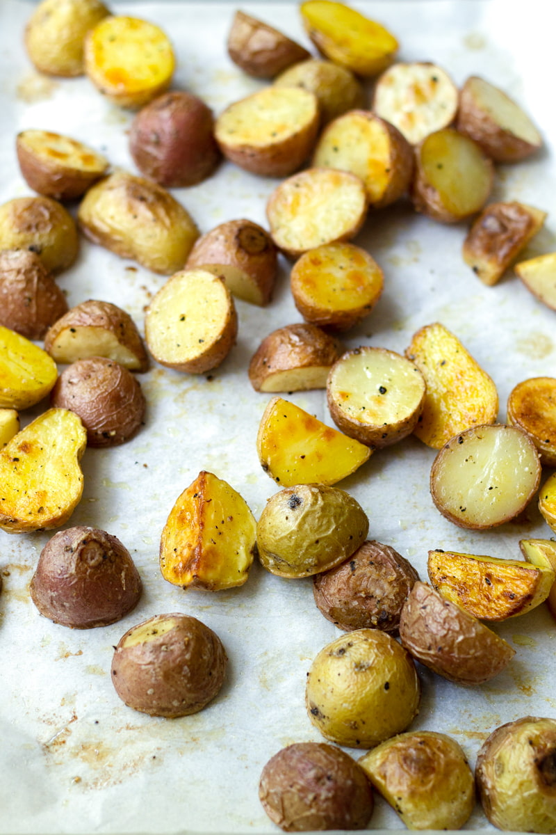roasted baby potatoes