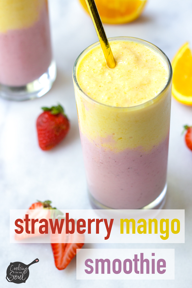 mango and berry smoothie with greek yogurt