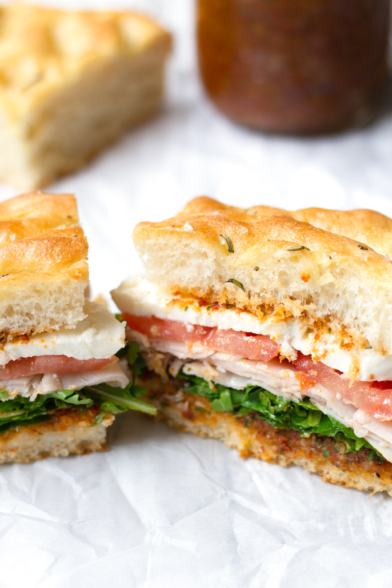 Turkey Mozzarella Focaccia Sandwich Cooking For My Soul