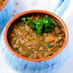 lentil soup with carrots and kale