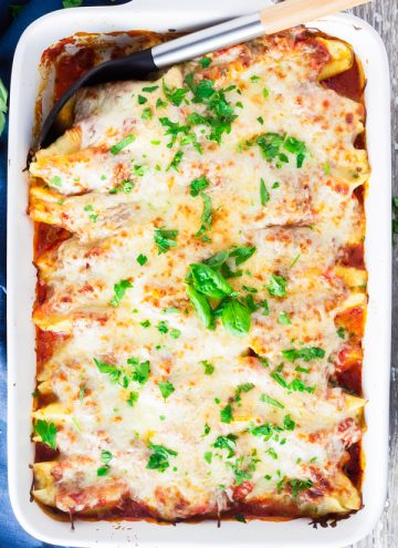 baked stuffed shells with cheese
