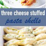 three cheese stuffed shells