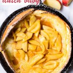 Apple Dutch Baby Pancake Topped with Brown Sugar Apples