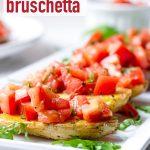 Fingerling Potato Bruschetta Appetizer