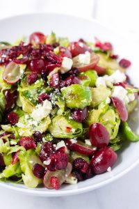 roasted brussels sprouts salad with cranberries