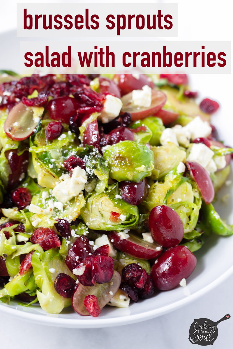 cranberry brussels sprouts salad
