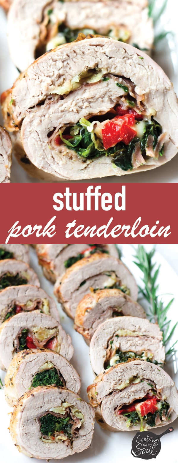 Stuffed Pork Tenderloin with Prosciutto and Spinach