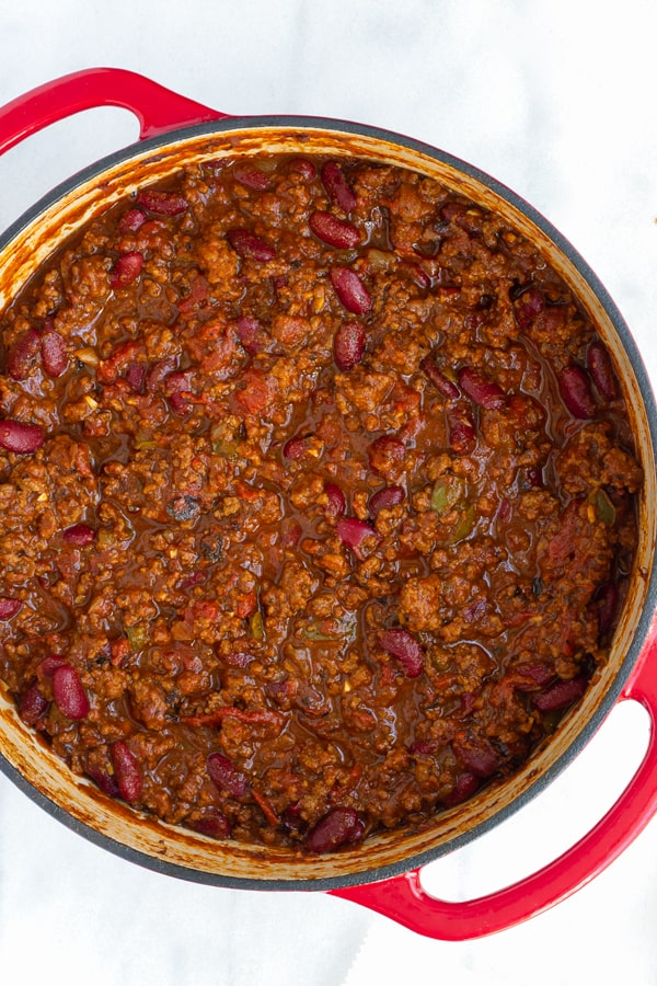 Easy Beef and Bean Chili with Beer