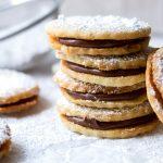 Nutella Hazelnut Shortbread Cookies