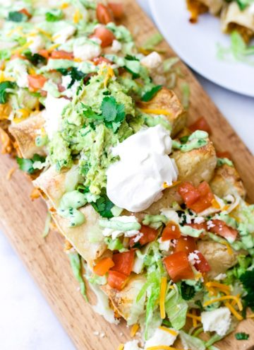 Loaded Baked Chicken Taquitos
