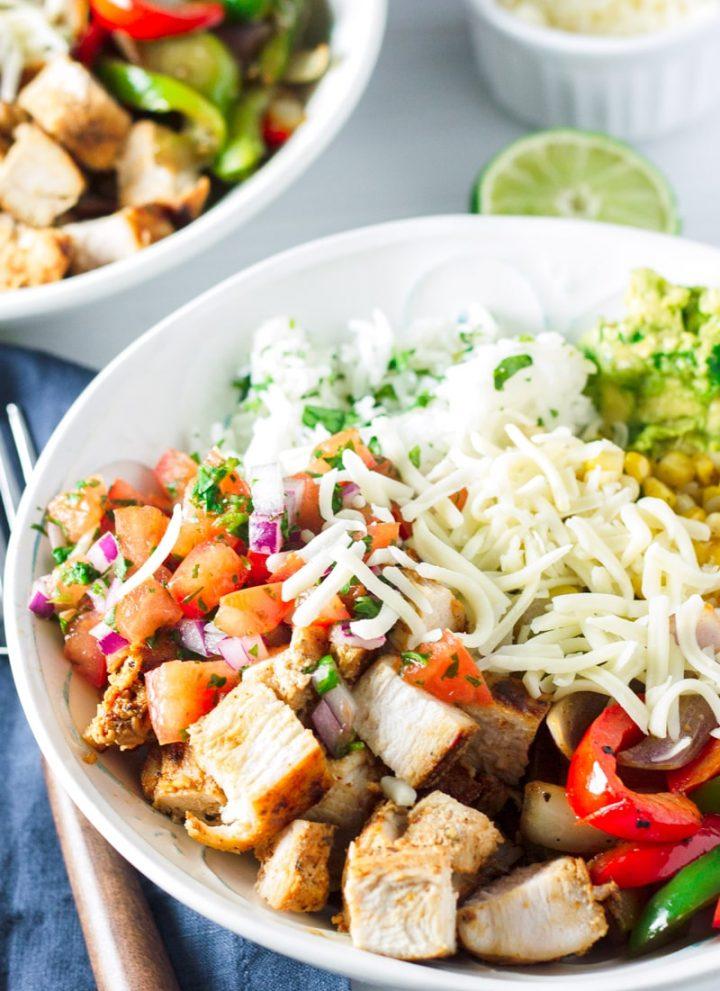 Easy Chicken Fajita Rice Bowl Recipe