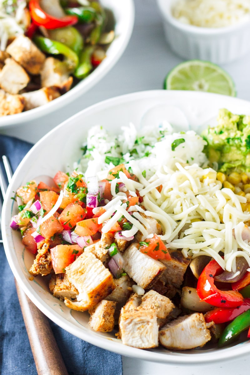 Easy Chicken Fajita Rice Bowl Recipe