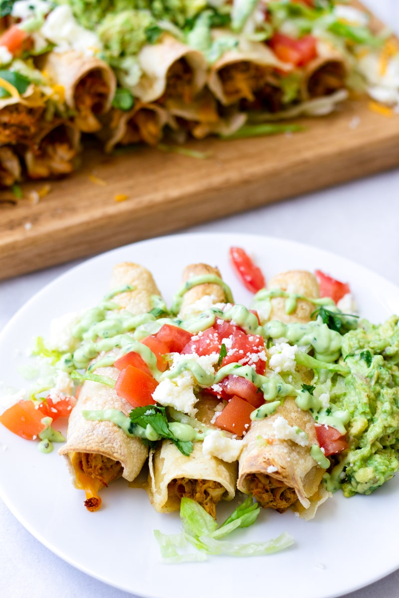 Easy Baked Chicken Taquitos with Rotisserie Chicken
