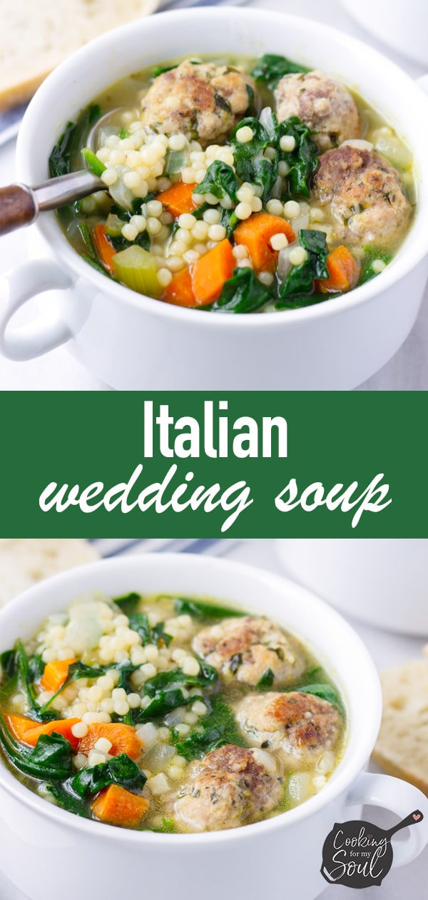 Italian Wedding Soup with Easy Meatballs