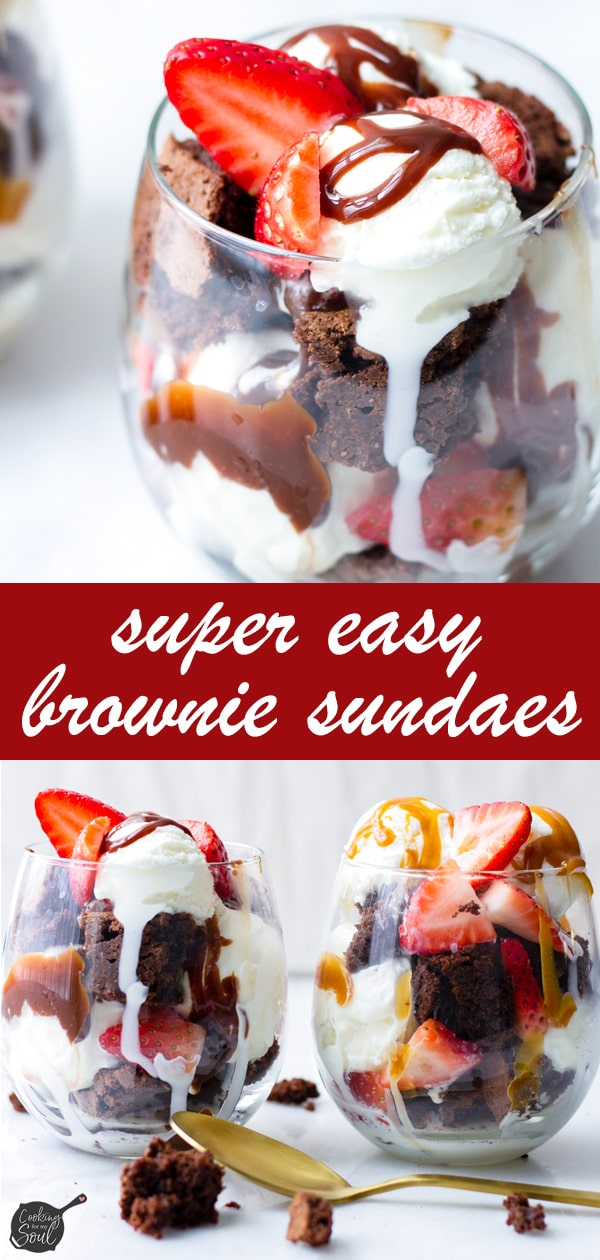 Chocolate Brownie Sundae with Hot Fudge