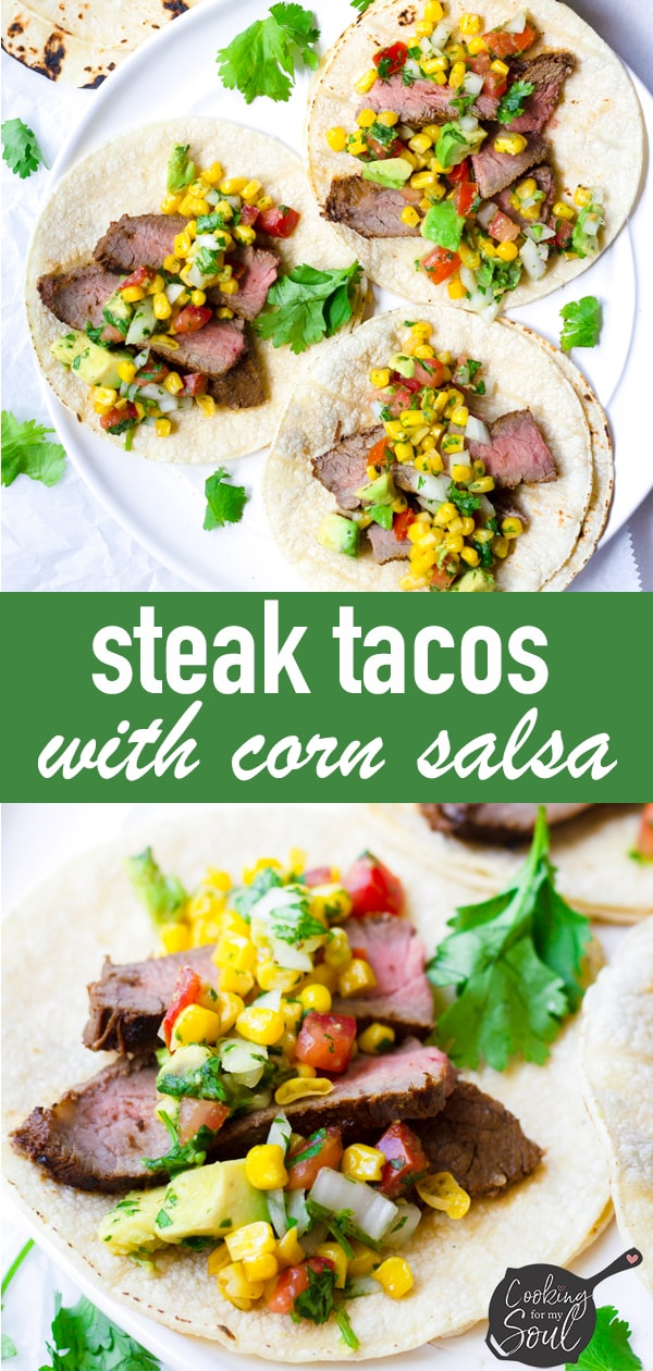 Grilled Flank Steak Tacos with Corn Salsa