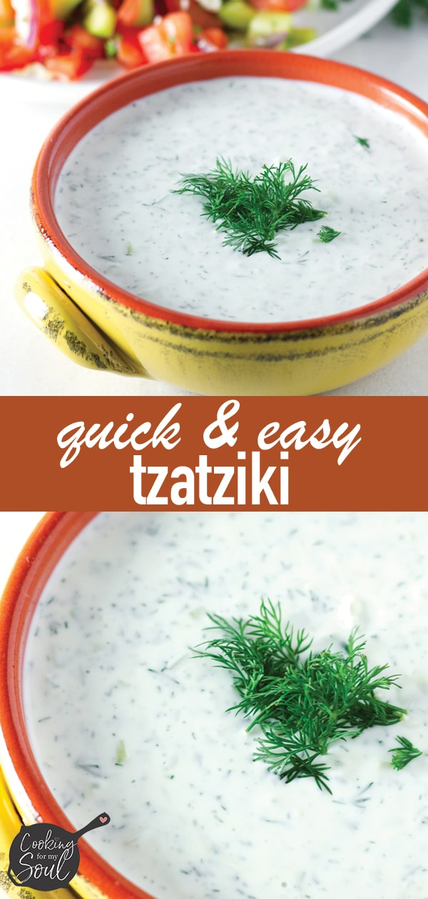 Greek Tzatziki Sauce with Dill and Greek Yogurt
