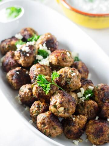 Greek Meatballs with Feta Cheese