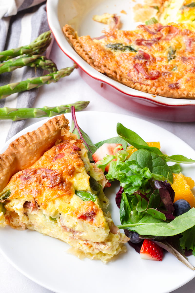 Asparagus Prosciutto Quiche with Side Salad