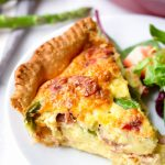 Asparagus Quiche with Prosciutto and Fontina