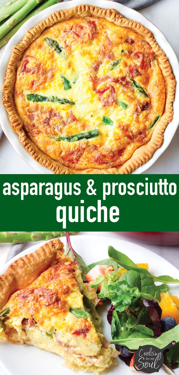 Spring Quiche with Asparagus, Prosciutto, and Fontina Cheese