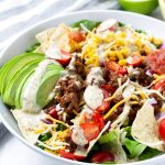 Easy Taco Salad Bowl with Ground Beef