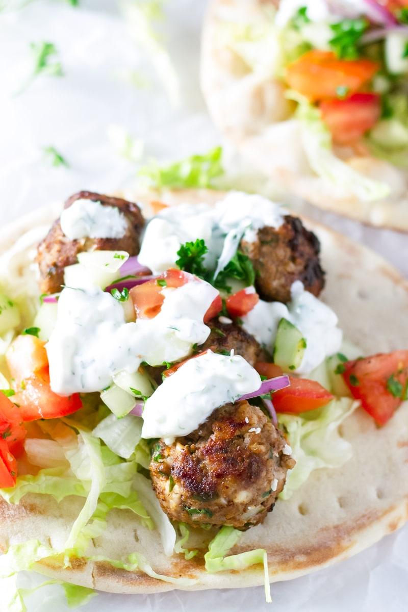 Mediterranean Meatball Gyro Recipe