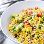 Mexican Corn Salad with Mayo Dressing