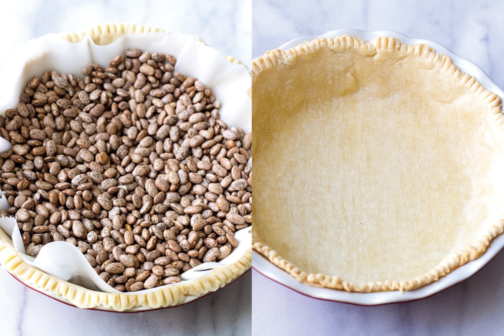 Blind-baking pie crust