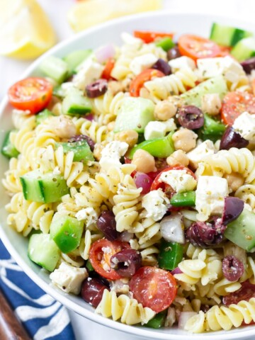 Pasta Salad with Greek Salad Dressing
