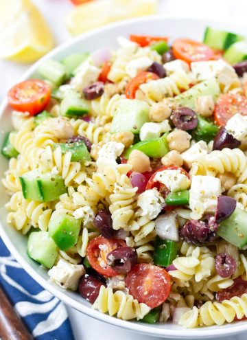 Pasta Salad with Greek Salad Dressing