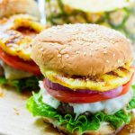 Hawaiian Burgers with Griled Pineapple and Teriyaki Sauce