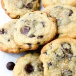 A Pile of Sea Salt Chocolate Chip Cookies