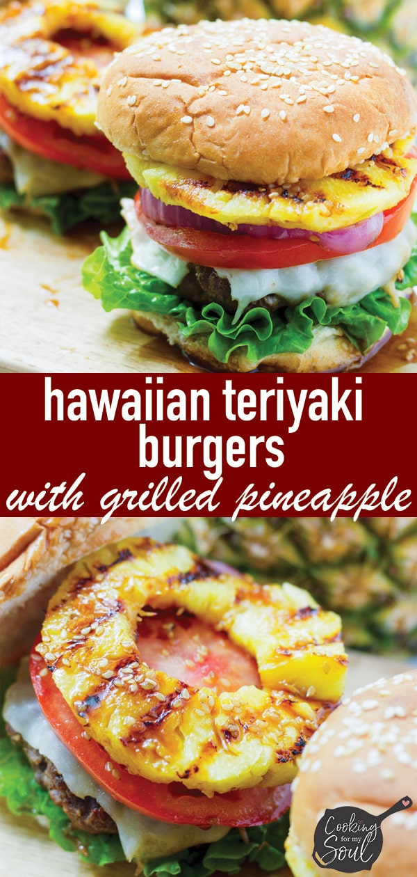 Grilled Pineapple Burgers with Teriyaki Sauce