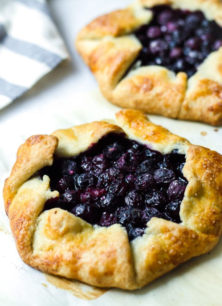 Blueberry Galettes with Buttermilk Pie Crust