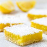 Lemon Bar Recipe with Shortbread Crust and Confectioner's Sugar